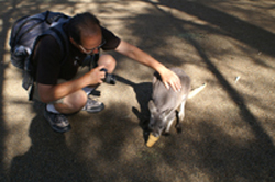 James with Kangaroo