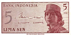 Indonesian note traded in cache