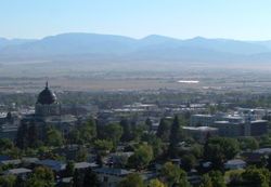 Overlooking Helena Montana from Mount Helena